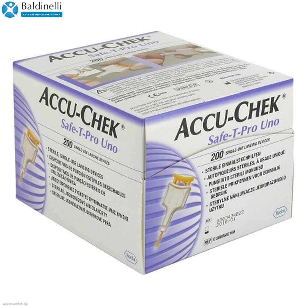 Ланцеты Accu-Chek Safe-T-Pro Uno, ACLS-2