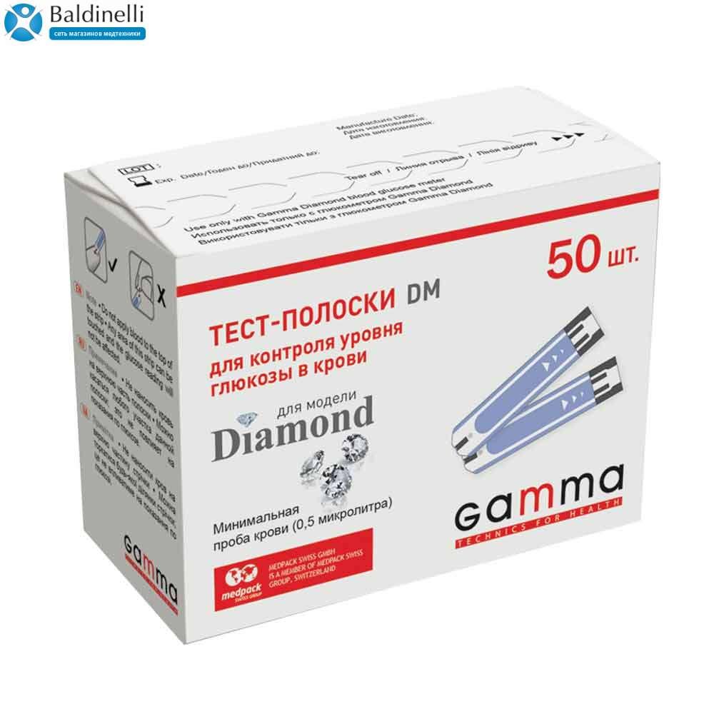 Тест-полоски Gamma DM 50 штук, GDM-50
