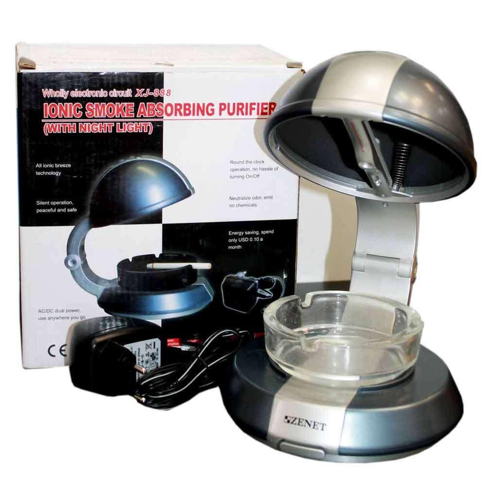 Ионизатор-очиститель воздуха от табачного дыма с подсветкой ZENET XJ-888