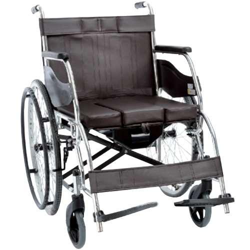 Складная инвалидная коляска с санитарным оснащением OSD-H003B