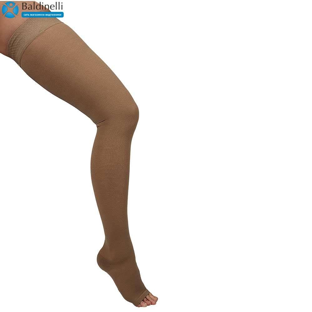 Чулки компрессионные ІІ уровень компрессии с открытым носком, ARS02