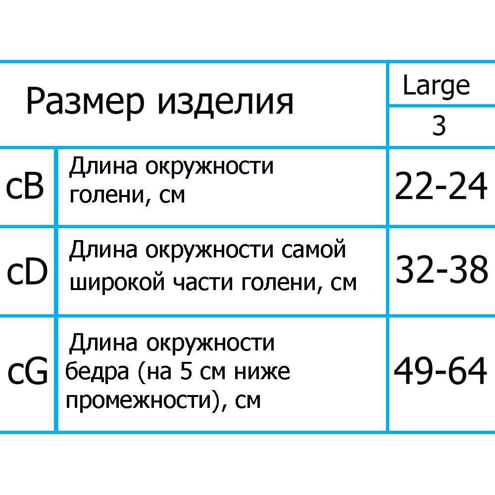 Гольфы компрессионные ІІІ уровень компрессии с закрытым носком, ARS04A