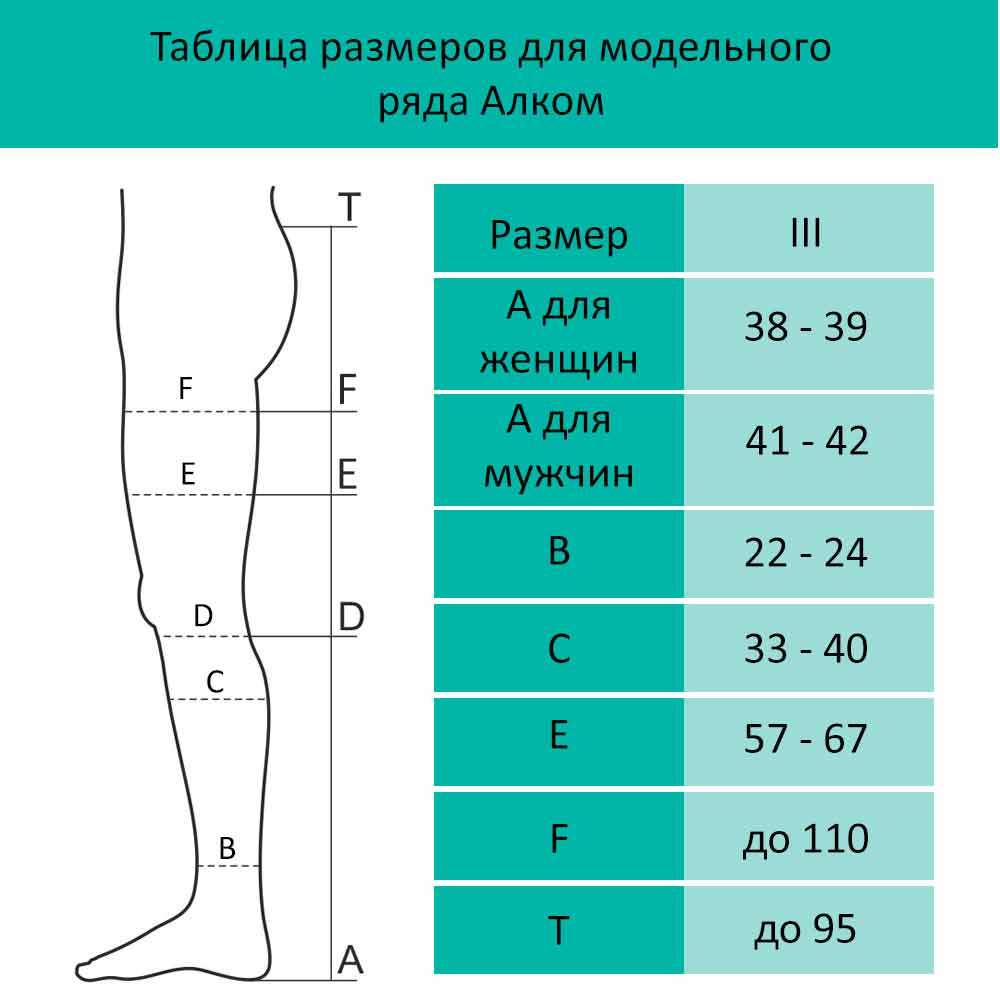 Чулок мужской компрессионный на левую ногу, 3 класс компрессии, 6073-OL