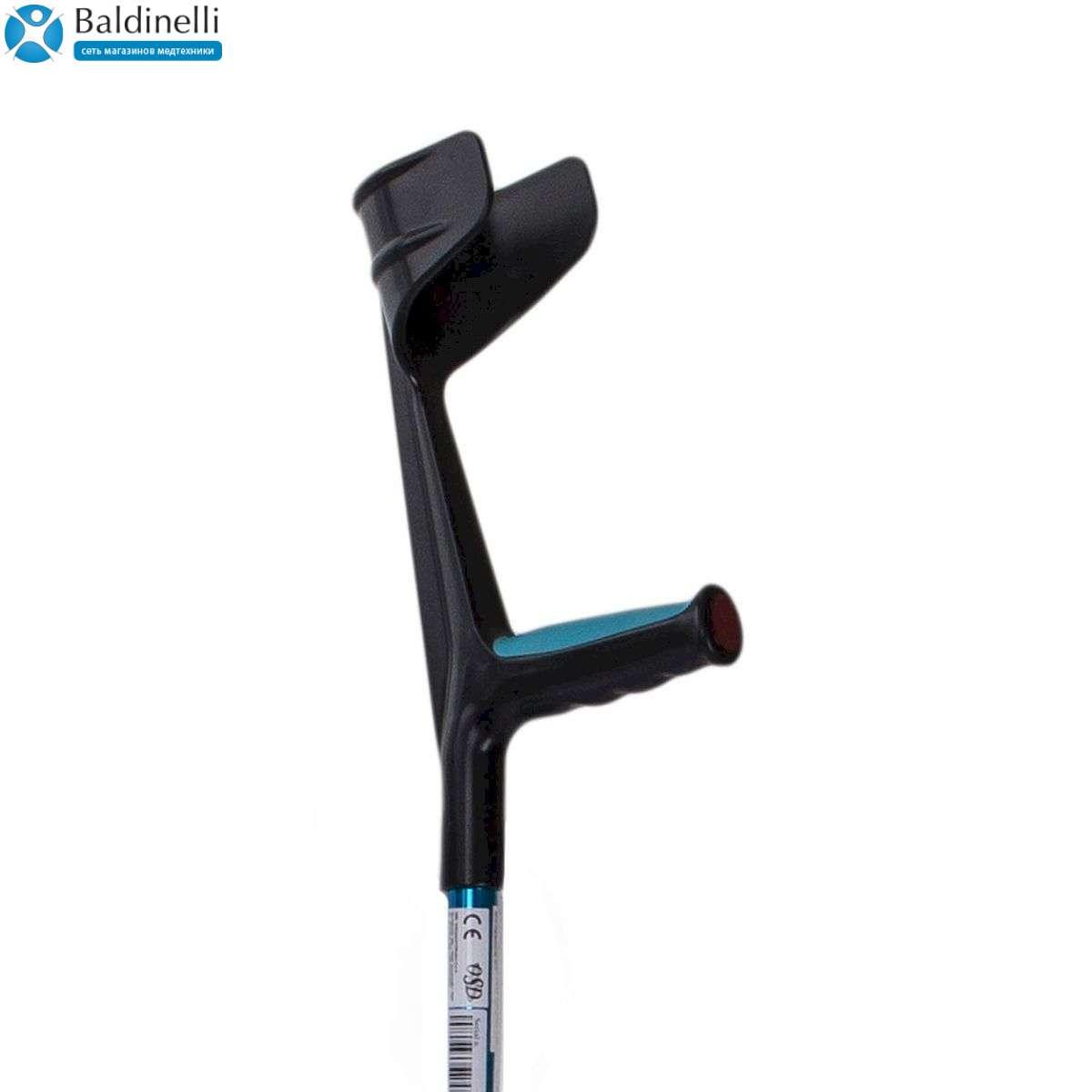 Костыль подлокотный с поддержкой предплечья и прорезиненой ручкой, OSD-RPM-86010