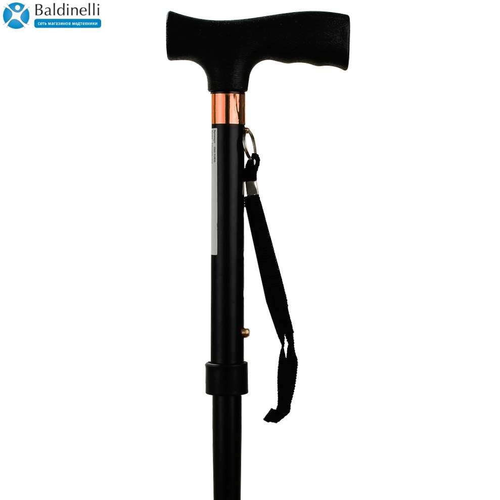 Т-образная алюминиевая трость (черная) OSD-BL560202