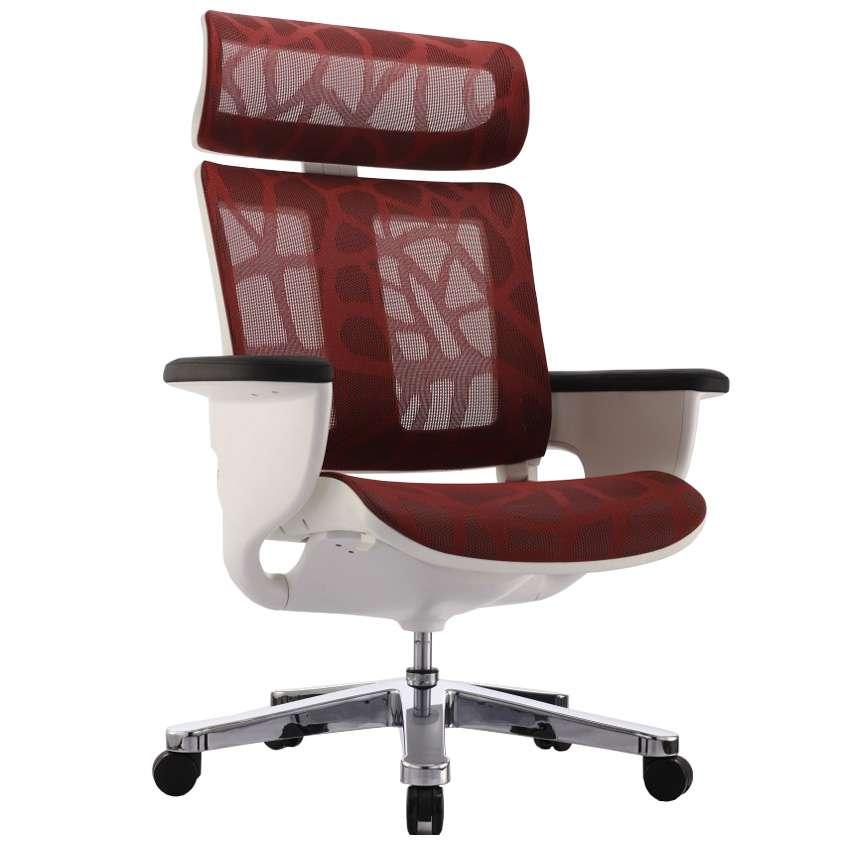 Кресло-реклайнер для офиса и дома, Nuvem Red Mesh