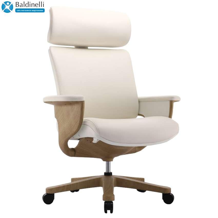 Кресло-реклайнер для офиса и дома, Nuvem Show White