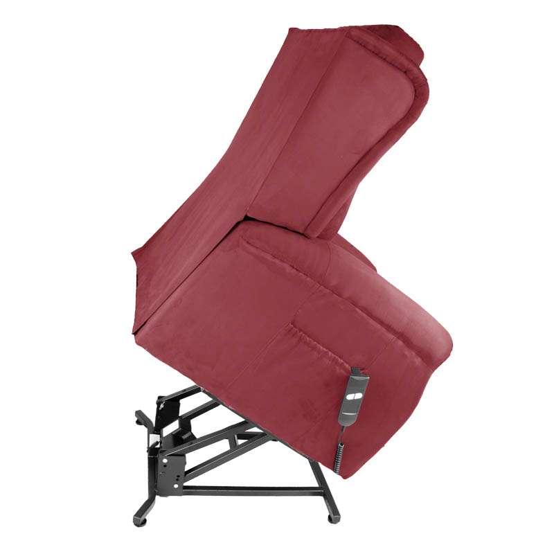 Кресло-реклайнер с одним электромотором Clarabella Red