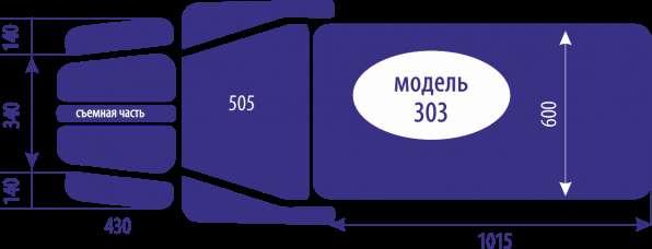3-х-секционный массажный стол Ормед, Мануал-303