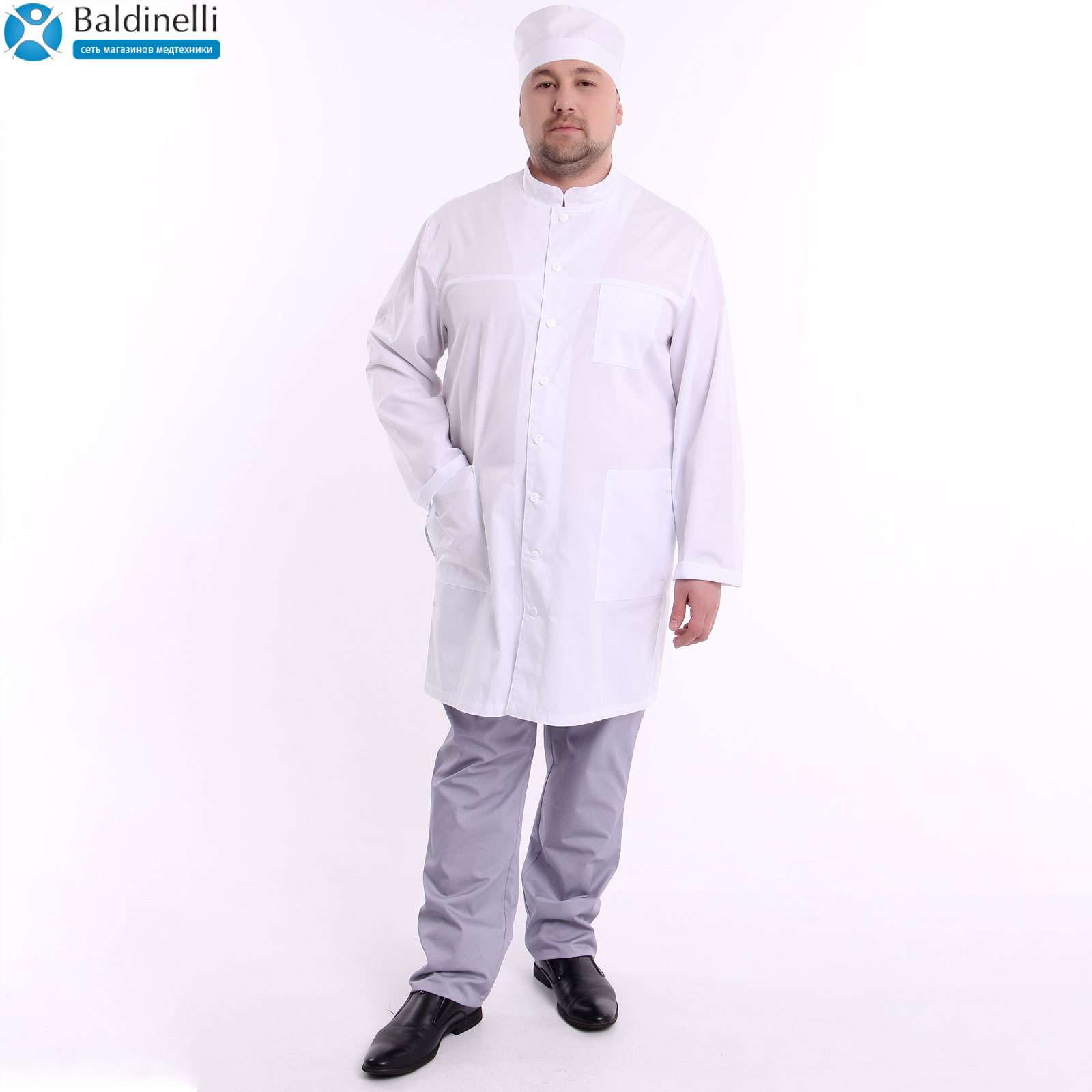Медицинский халат, ТМ ZORYANA «Дантэ»