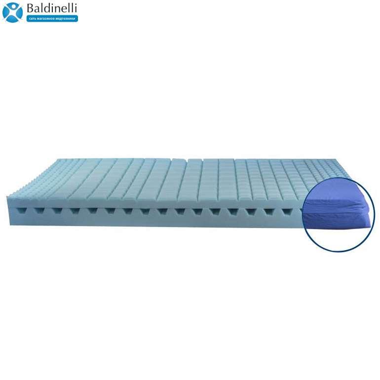 Матрас для медицинских кроватей (17 см) Basic Reflex (Франция) + чехол