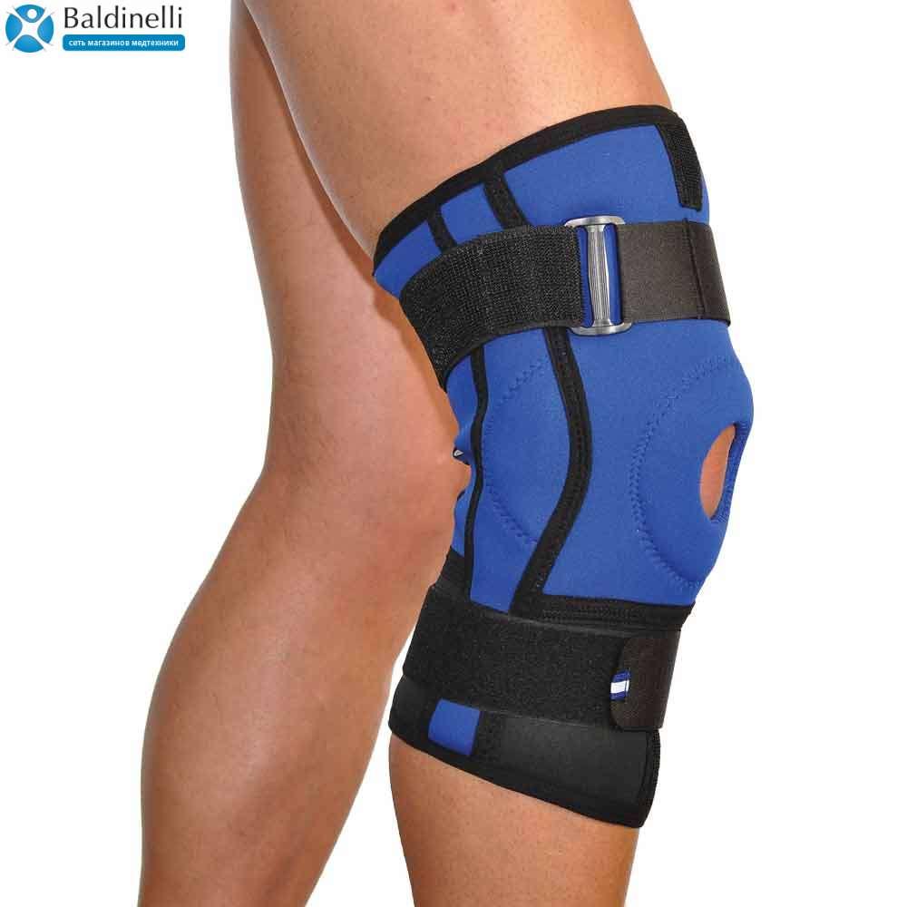 Бандаж коленного сустава неопреновый с двумя шарнирными ребрами жесткости (размер: 1-4) 4022-1