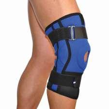 Бандаж коленного сустава неопреновый с двумя шарнирными ребрами жесткости (размер: 5-6) 4022-2