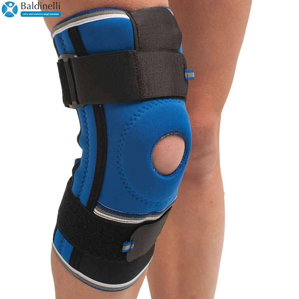Бандаж коленного сустава неопреновый со спиральными ребрами жесткости, р. 1-4, 4052-1
