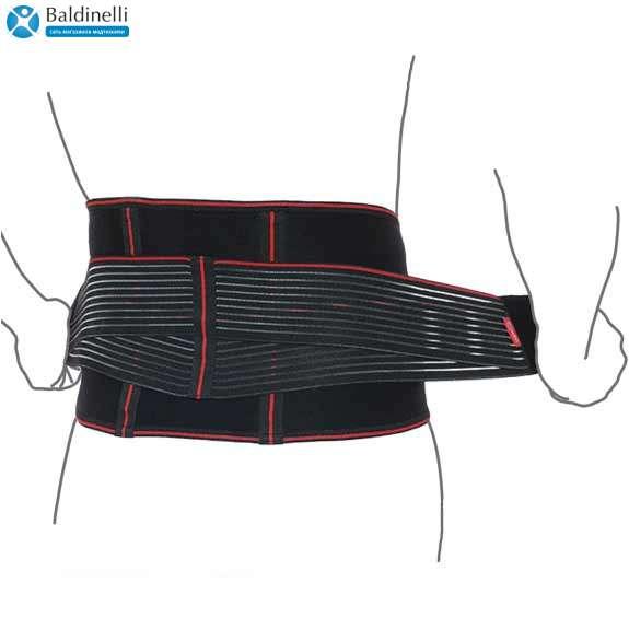 Пояс ортопедический аэропреновый с ребрами жесткости, R3202