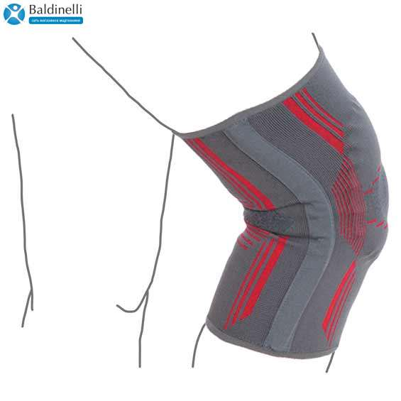 Бандаж на коленный сустав вязанный эластичный усиленный, R6104
