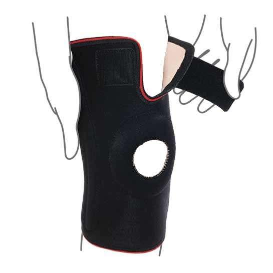 Бандаж на коленный сустав со спиральными ребрами жесткости R6202