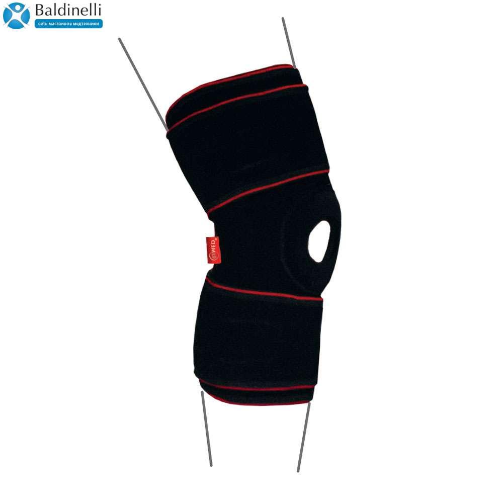 Бандаж на коленный сустав с шарнирами, R6302
