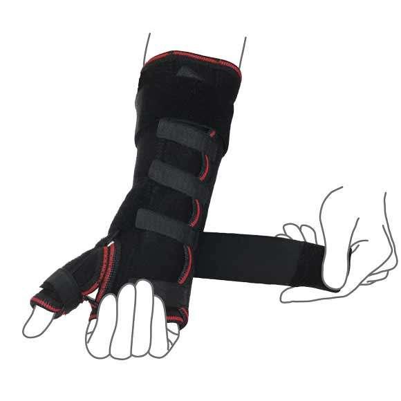Шина на лучезапястный сустав с фиксацией пальца, R8303