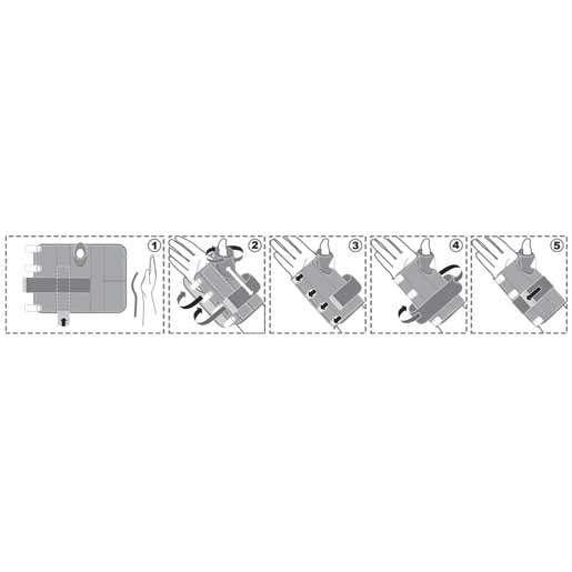 Бандаж на лучезапястный сустав с ребром жесткости (с фиксацией пальца), R8304