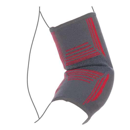 Бандаж на локтевой сустав вязанный эластичный усиленный, R9104