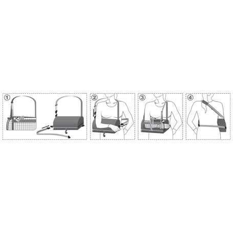 Бандаж для руки отводящий (подушка), R9202