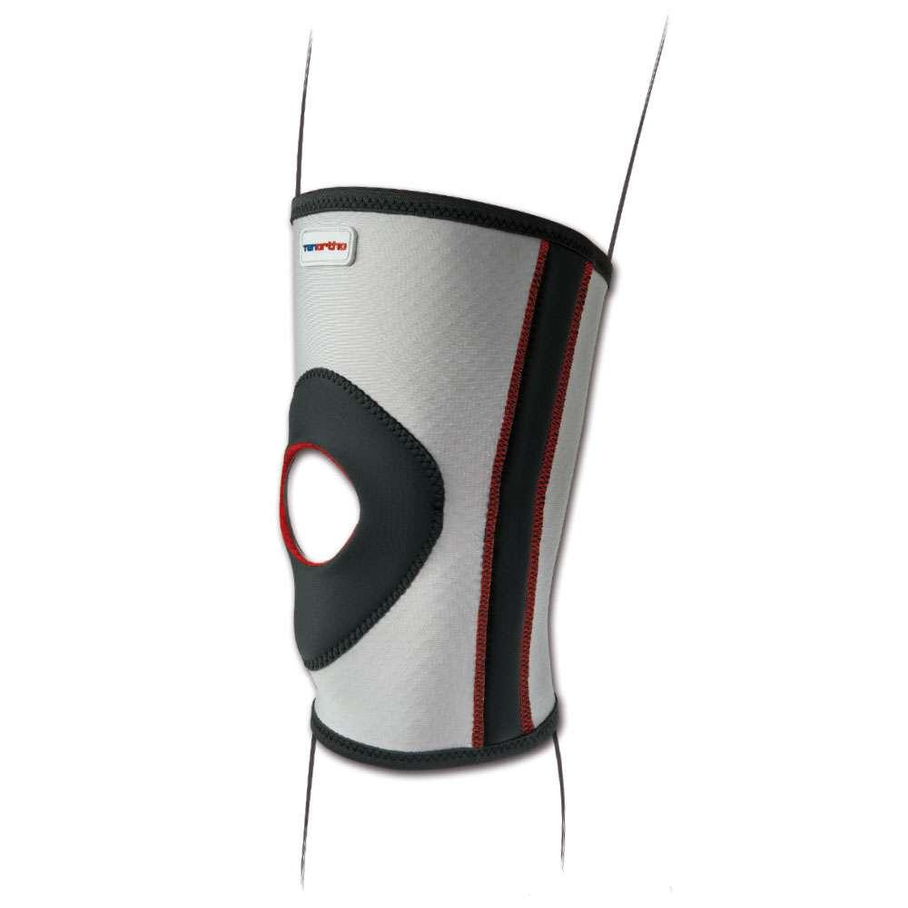 Легкий эластичный бандаж на колено с открытой пателлярной частью TO3112