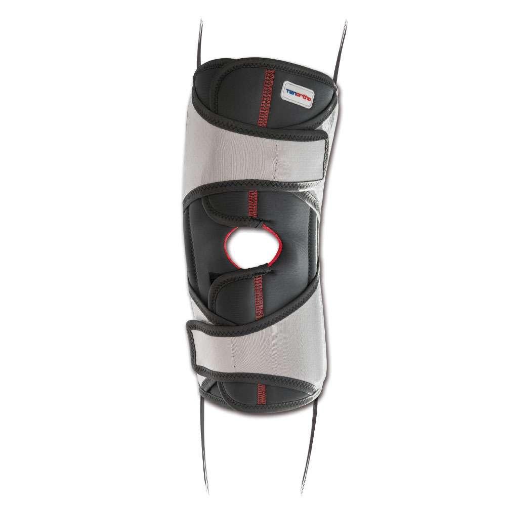 Раскрывающийся бандаж на колено с двумя ребрами жесткости и открытой пателлярной частью, TO3118