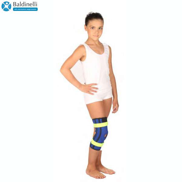 Бандаж на коленный сустав с металлическими шарнирами Тривес детский T-8532