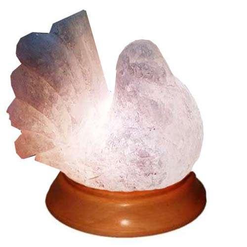 """Соляной светильник Артемсоль, """"Голубь"""" на деревянной подставке"""