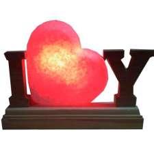 """Соляной светильник Артемсоль, """"Сердце"""" стоячее с буквами, малое"""