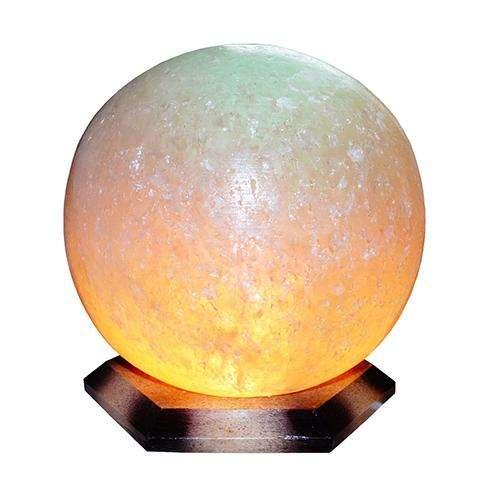 """Соляной светильник Артемсоль, """"Шар"""" малый, на деревянной подставке"""
