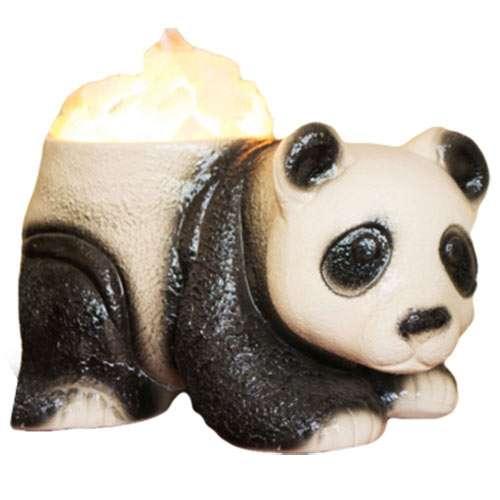 """Керамический соляной светильник Планета соли, """"Панда Большая"""", 2066"""