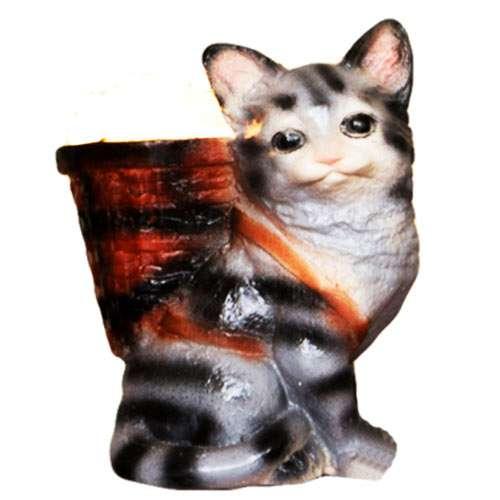 """Керамический соляной светильник Планета соли, """"Кот"""", 2070"""