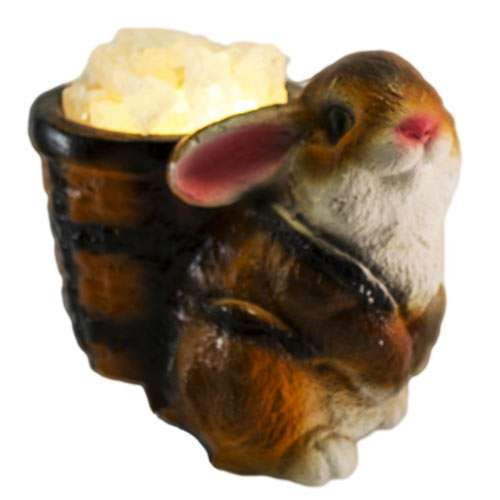 """Керамический соляной светильник Планета соли, """"Кролик"""", 2071"""
