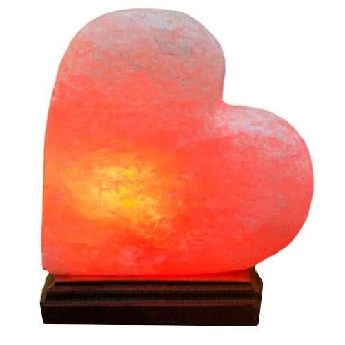 """Соляной светильник Планета соли, """"Сердце на боку"""", с деревом, 2085"""