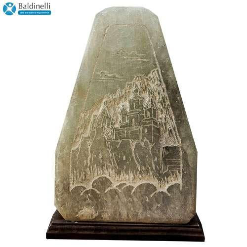 """Соляной светильник Планета соли, """"Скала с гравировкой"""" (Храм), 2093"""