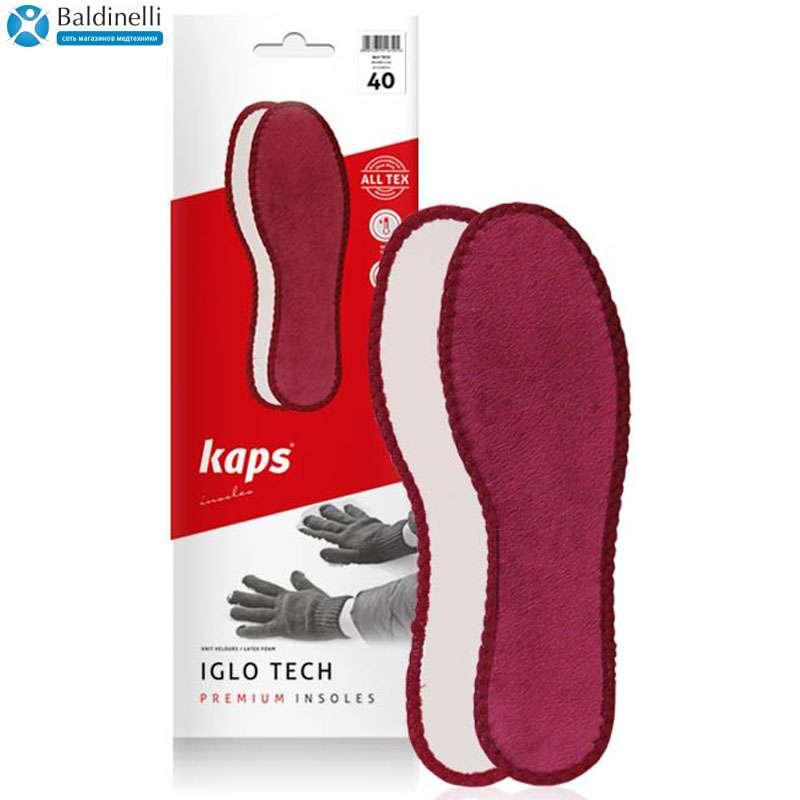 Ортопедическая велюровая стелька Kaps, Iglo Tech
