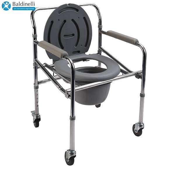 Кресло-стул с санитарным оснащением на колесах PR-771
