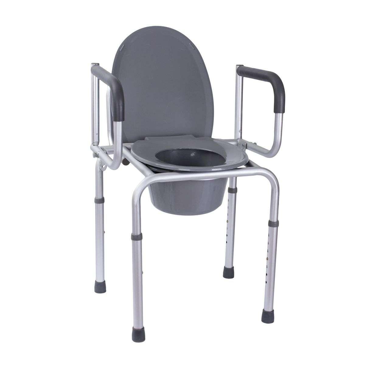 Алюминиевый стул-туалет с откидными подлокотниками, OSD-RB-A2107D
