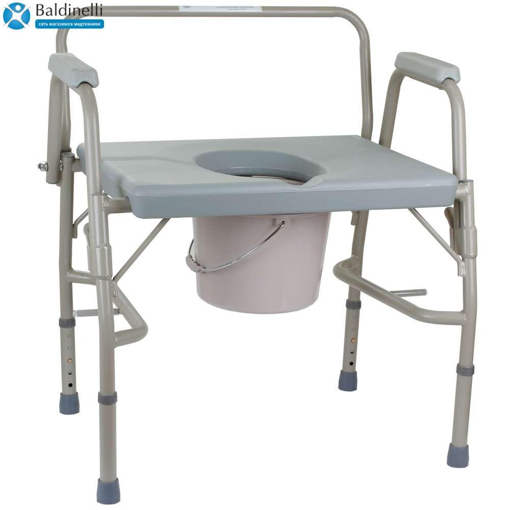 Усиленный стул-туалет с откидными подлокотниками, OSD-BL740101