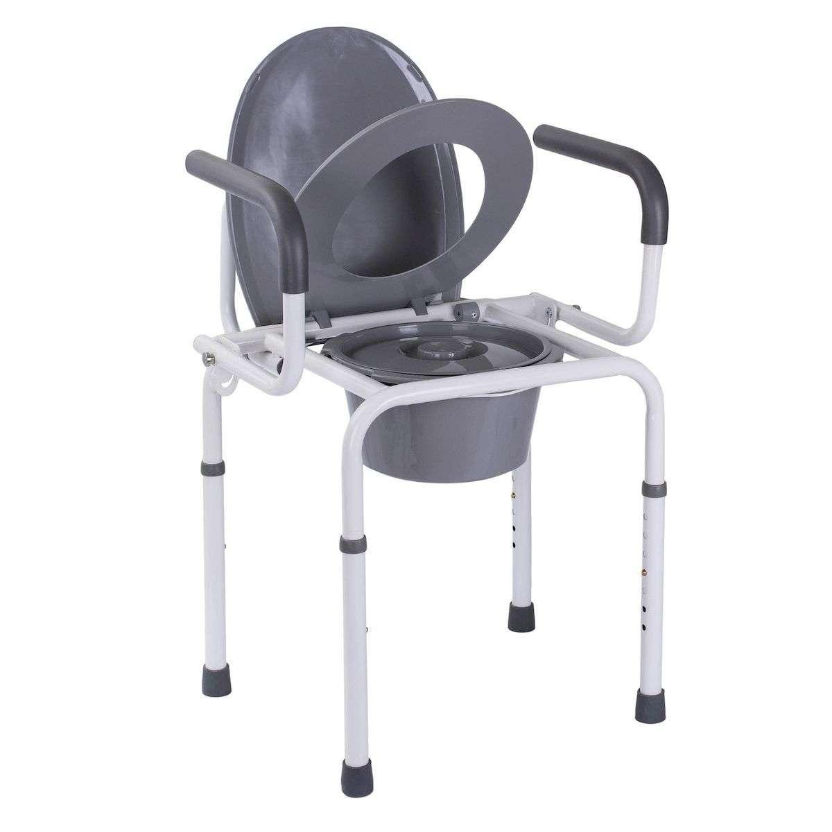 Стальной стул-туалет с откидными подлокотниками OSD-RB-2107D