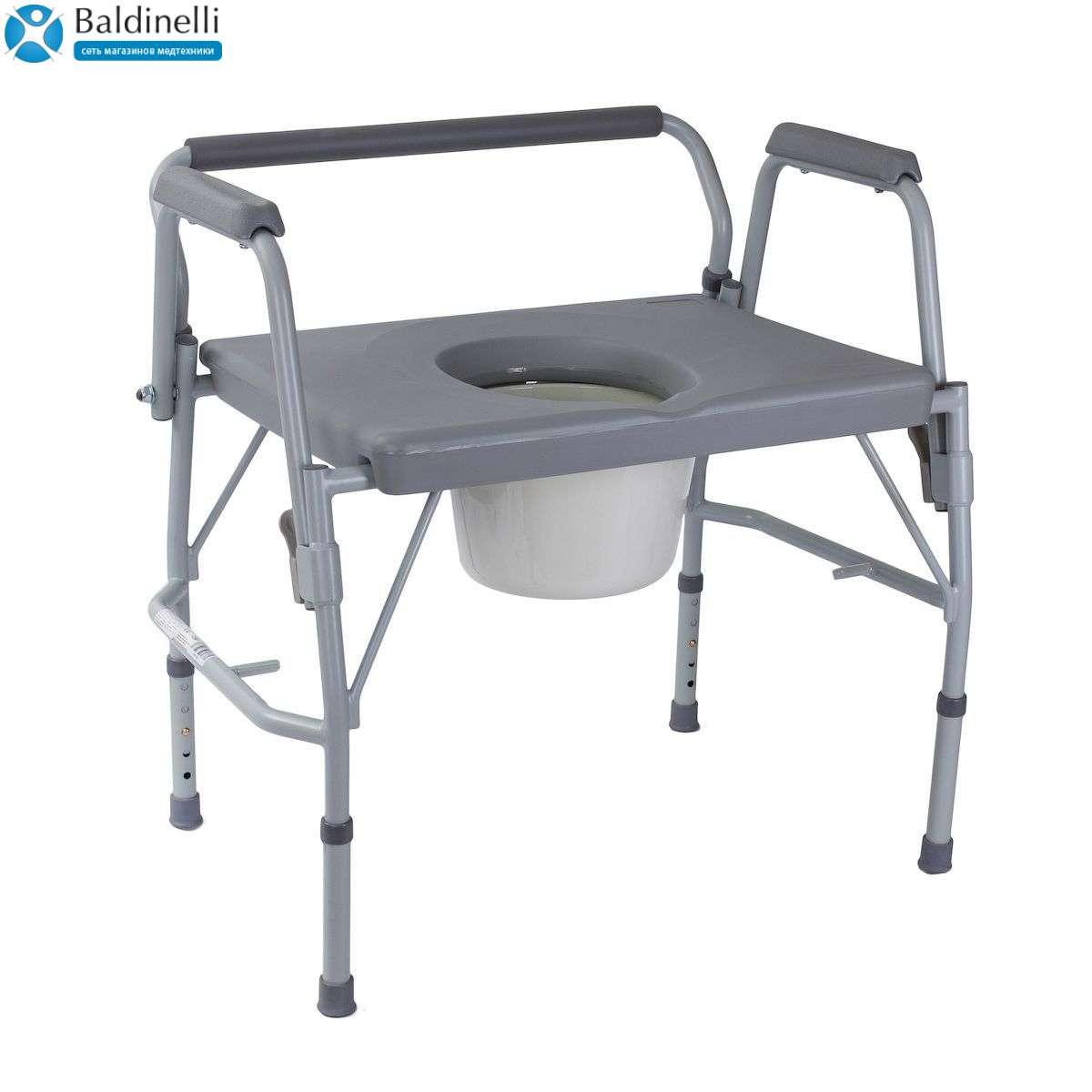 Ультраширокий стул-туалет с откидными подлокотниками, OSD-RPM-68073