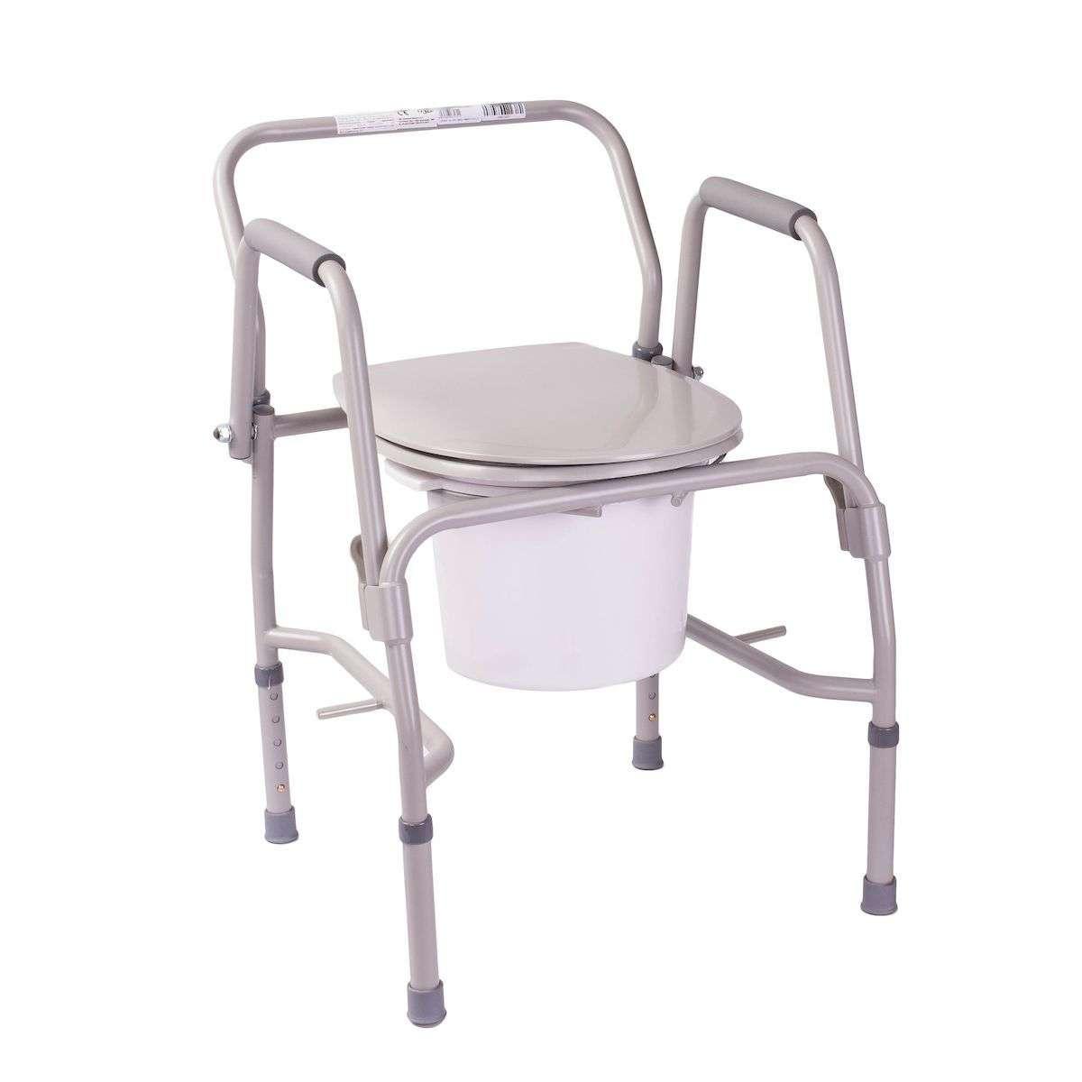 Усиленный стул-туалет с откидными подлокотниками, OSD-RPM-68680D